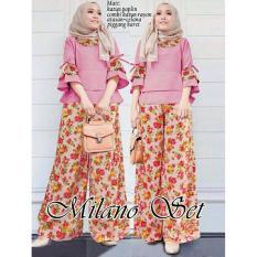 Toko Legionshop Pakaian Wanita Baju Cewek Blouse Wanita Stelan Wanita Milani Pink Blouse Celana Murah Dki Jakarta