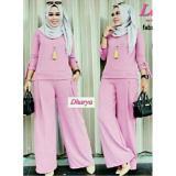 Harga Legionshop Pakaian Wanita Baju Cewek Stelan Wanita Blouse Wanita Blouse Celana Levita Baby Pink Origin
