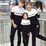 Beli Legionshop Sweater Keluarga Sweater Family Go Out Camp Babyterry Lengan Panjang Black White