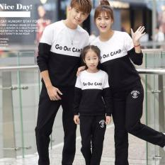 Jual Legionshop Sweater Keluarga Sweater Family Go Out Camp Babyterry Lengan Panjang Black White Branded Original