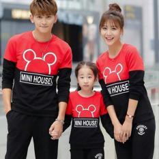 Beli Legionshop Sweater Keluarga Sweater Family Mini House Babyterry Lengan Panjang Black Red Lengkap