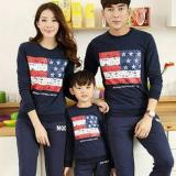 Beli Legionshop Sweater Keluarga Sweater Family Boston Flag Babyterry Lengan Panjang Navy Murah