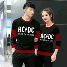Harga Legionshop Sweater Pasangan Sweater Couple Ac Dc Black Maroon Original