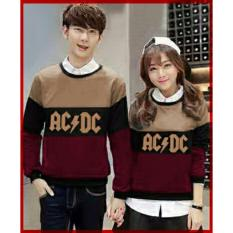 Legionshop Sweater Pasangan Sweater Couple Ac Dc Mocha Black Maroon Murah