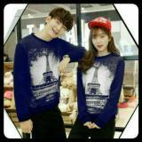 Diskon Legionshop Sweater Pasangan Sweater Couple Eiffel In Love Navy Dki Jakarta