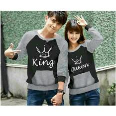 Spesifikasi Legionshop Sweater Pasangan Sweater Couple King Queen Black Misty Legionshop Terbaru