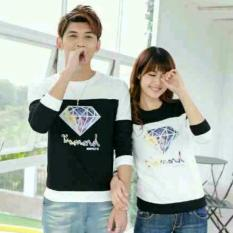 Diskon Legionshop Sweater Pasangan Sweater Couple Diamond Black White Legionshop