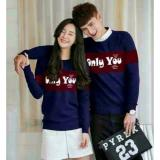 Harga Legionshop Sweater Pasangan Sweater Couple Only You Navy Maroon Branded