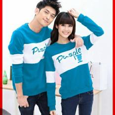 Beli Legionshop Sweater Pasangan Sweater Couple Pusple Turquise White Cicilan