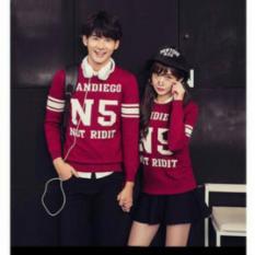 Review Tentang Legionshop Sweater Pasangan Sweater Couple Sandiego N 5 Merah Maroon