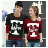 Toko Legionshop Sweater Pasangan Sweater Couple T Fashion Black Maroon Legionshop Online