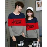 Promo Legionshop Sweater Pasangan Sweater Couple The Adventure Club Navy Red Grey Murah