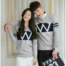 Jual Legionshop Sweater Pasangan Sweater Couple W Grey Online Dki Jakarta