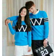 Toko Legionshop Sweater Pasangan Sweater Couple W Turquise Terdekat