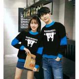 Toko Legionshop Sweater Pasangan Sweater Couple Warm Moments Black Turquise Murah Di Dki Jakarta