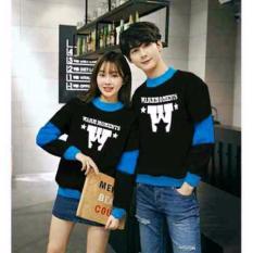 Beli Barang Legionshop Sweater Pasangan Sweater Couple Warm Moments Black Turquise Online