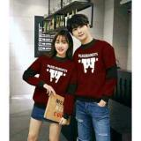 Cuci Gudang Legionshop Sweater Pasangan Sweater Couple Warm Moments Maroon Black