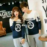Beli Legionshop Sweater Pasangan Sweater Couple Yabo Clob Navy White Seken