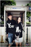 Toko Legionshop Sweater Pasangan Sweater Couple You Me Black Terdekat