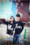 Promo Legionshop Sweater Pasangan Sweater Couple You Me Navy Murah