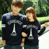 Spesifikasi Legionshop Sweater Pasangan Sweater Essence Paris Navy Bagus