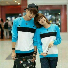 Spesifikasi Legionshop Sweater Pasangan Sweater Couple Bintang Turkis Murah
