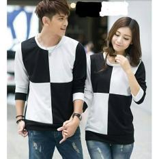 Toko Legionshop Sweater Pasangan Sweater Couple Catur Black White Terlengkap