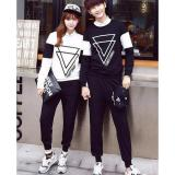 Jual Legionshop Sweater Pasangan Sweater Couple Double Triangle Black White Antik