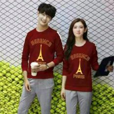 Legionshop Sweater Pasangan Sweater Couple Essence Paris Gold Foil Maroon Legionshop Diskon 30