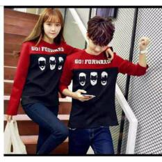 Harga Legionshop Sweater Pasangan Sweater Couple Go Forward Red Murah
