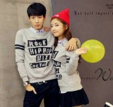 Harga Legionshop Sweater Pasangan Sweater Couple Hip Hop Grey New