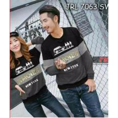 Beli Legionshop Sweater Pasangan Sweater Couple Hmoies Black Misty Grey Online Terpercaya