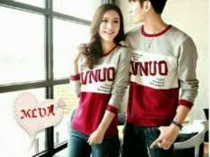 Obral Legionshop Sweater Pasangan Sweater Couple Lvnuo Maroon Murah