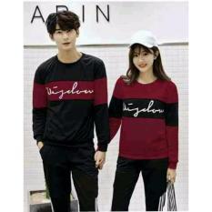 Top 10 Legionshop Sweater Pasangan Sweater Couple Wisdom Maroon Black Online