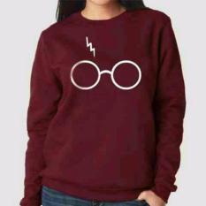 Promo Legionshop Sweater Wanita Baju Cewek Atasan Wanita Sweater Wanita Terbaru Sweater Wanita Lengan Panjang H Potter Maroon Di Dki Jakarta