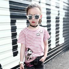 Perbandingan Harga Leher Bulat Kartun T Shirt Anak Perempuan Lengan Pendek T Shirt Merah Muda Warna Pasta Kacang Merah Bubuk Oem Di Tiongkok