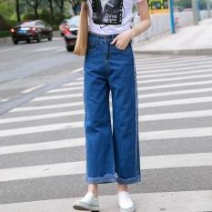 Harga Jepit Sendal Wanita Rekreasi High Waisted Jeans Panjang Celana Korea Biru Intl Yang Murah Dan Bagus