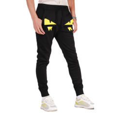 Lemon Joggers Celana Sweatpants Fit Ramping untuk Pria Hitam-Intl