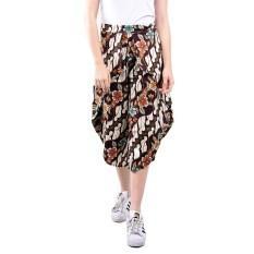 Toko Lemone Cullote Pants Celana Kulot Wanita Batik Coklat Murah Di Dki Jakarta