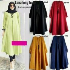 Lena Long Top Baju Atasan Wanita Baju Muslim Dress Tunic Kemeja