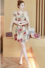 Berapa Harga Lengan Panjang Ukuran Besar Tipis Rok Dicetak Baju Baru Gaun Khaki Oem Di Tiongkok
