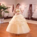 Toko Bridal Gaun Lantai Panjang Organza Renda Pernikahan Gowns Leondo Champagne Intl Terlengkap