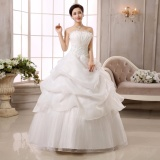 Jual Leondo Wedding Dresses Floor Length Organza Lace Bridal Ball Gowns Formal Ivory Intl Grosir