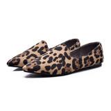 Review Terbaik Leopard Musim Gugur Baru Flat Shoes Mengemudi Sepatu Wanita Sepatu Beige Macan Tutul