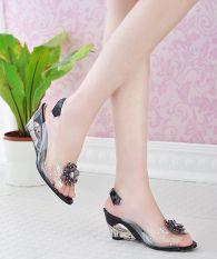 Sandal Bunga Transparan Wanita