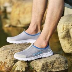 Review Tentang Leroro Pria Baru Ringan Go Mudah Berjalan Casual Athletic Nyaman Berjalan Sepatu Sneakers Abu Abu Terang Intl