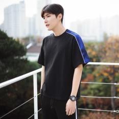 LesCopines Pria Terlalu Besar T-Shirt Bergaya Gaya Pacar Fashion Desain (Hitam)-Intl