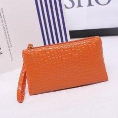LetDo LetDo Guangzhou Produsen Grosir Handbags Vendor Supply Nn. Hand Bag Korea Ponsel Dompet Hadiah Paket (Orange) -Intl