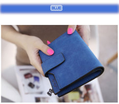 Beli Letter Snap Fastener Zipper Dompet Clutch Pendek Deep Blue Intl Lengkap