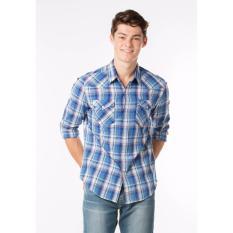 Beli Barang Levi S Classic Western Shirt Sousaphone Dutch Blue Online